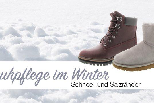 Schuhpflege Schnee- und Salzränder