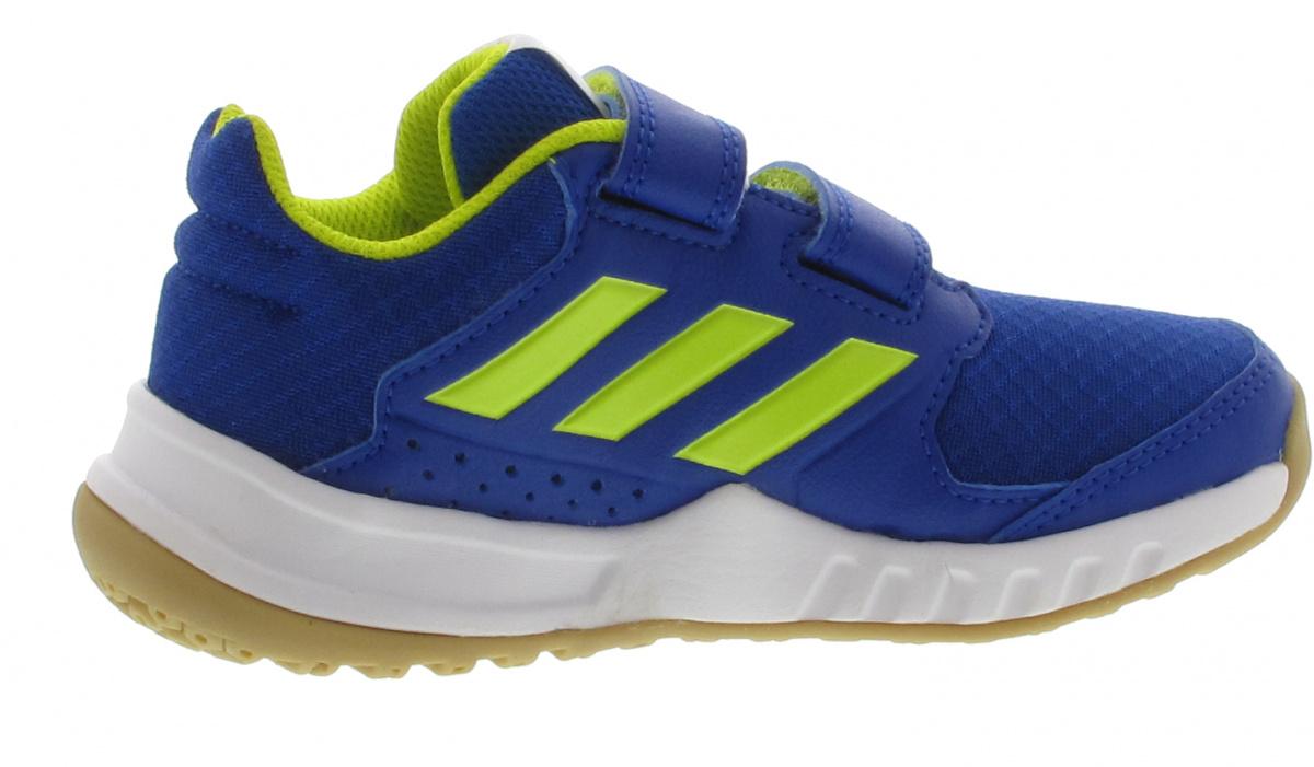gelb Fitness Schuh FortaGym CF K Klett blau adidas